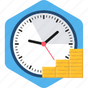 cash, coin, finance, gold, money, time, value icon