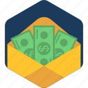budget, cash, envelope, finance, money, moneyorder, paper icon