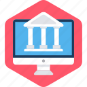 bank, building, design, financial institution, stock house, treasury icon
