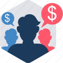 account, business, details, financial, money, transaction, users icon