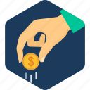 coin, dollar, income, revenue, save, saving, savings icon