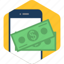 cash, mobile, money, pay, payments, transaction icon