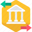 bank, banking, business, financial institution, security, stock house, treasury icon