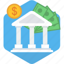 bank, banking, business, financial, institution, loan, premium icon