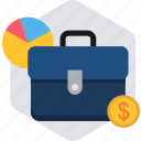 bag, baggage, business, chart, finance, portfolio icon