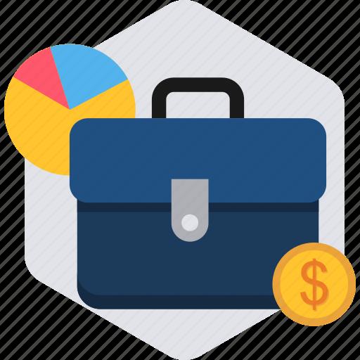bag, baggage, business, chart, finance, portfolio icon