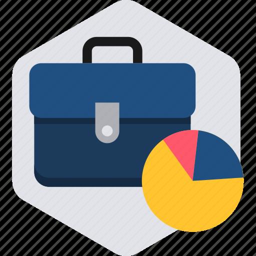 bag, business, chart, office, portfolio, work icon