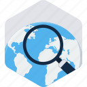 business, find, global, globe, search, seo, web icon