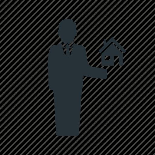 business, businessman, house, management, social, team, worker icon