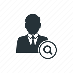 business, businessman, management, search, social, team, worker icon