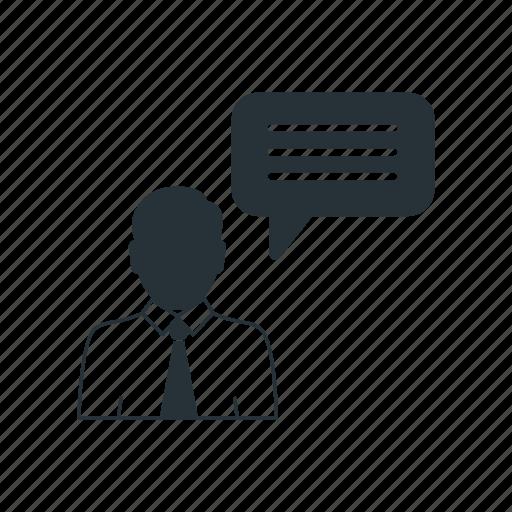 business, businessman, management, social, speak, team, worker icon