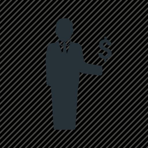 business, businessman, management, money, social, team, worker icon
