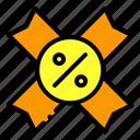 discount, label, badge, medal, tag