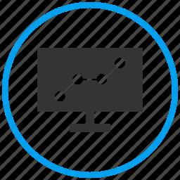 dashboard, lcd display, market, monitor, presentation, television icon
