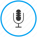 mic, microphone, mike, recorder, voice chat, voice search icon