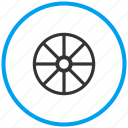 audio, driving, gear, ship wheel, steering, tire, tuning icon