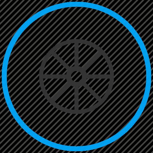 audio, driving, gear, ship wheel, steering, tire, tuning icon
