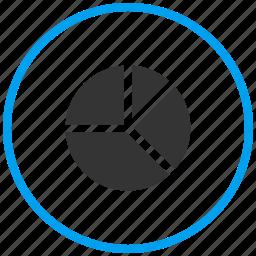 analytics, pie chart, pie graph, section, statistics icon