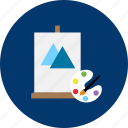 brush, coloring, design, education, modern, object, technology icon