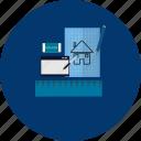 blueprint, design, education, modern, object, sketch, technology icon