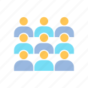 conference, corporation, executive, group, people icon