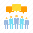 chat, communication, community, dialogue, discussion, group, talk icon