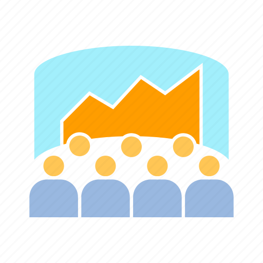 audience, conference, graph, monitoring icon