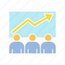 chart, conference, finance, graph, management, monitoring, profit, stock market icon