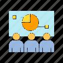 analysis, executive, graph, management, market share, marketing, office, pie chart, whiteboard