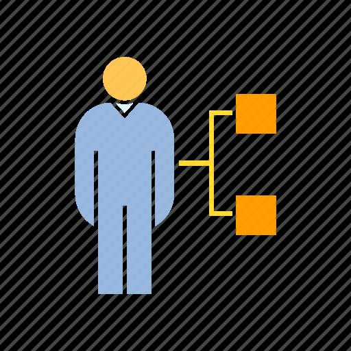 employee, employer, management, organization chart, people, person icon