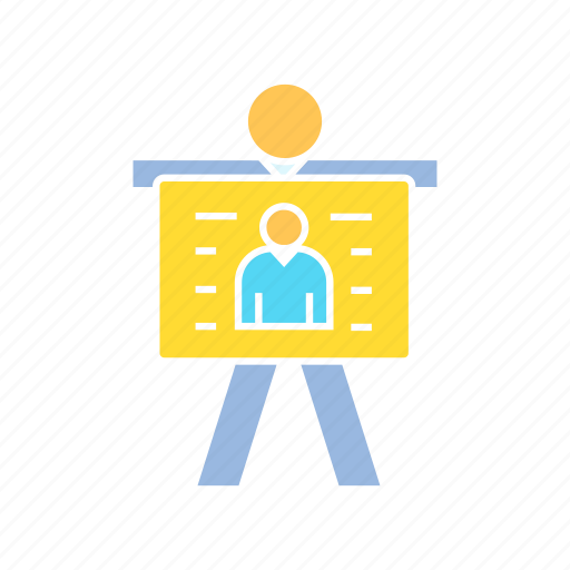 business card, employee, employer, person, present, profile icon