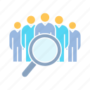human resource, management, manpower, recruiting, recruitment, search, team, teamwork icon