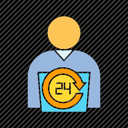 call center, call service, contact, employee, employer icon