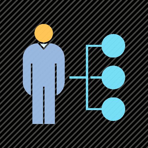 chart, company, corporation, hierarchy chart, management, organization icon