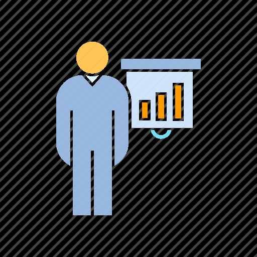 chart, data, graph, management, present, report icon