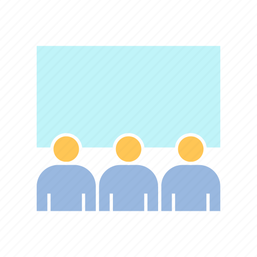 audience, conference, corporation, executive, meeting, whiteboard icon