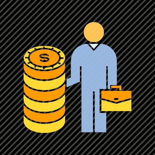 business man, finance, fund, investor, money, venture capitalist icon