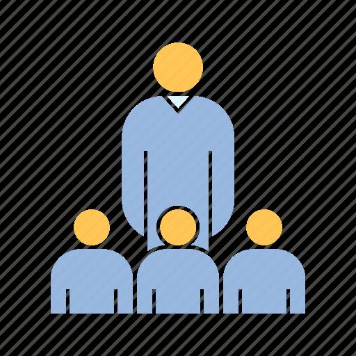 audience, boss, group, leader, leadership, people icon