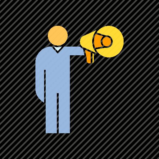 advertising, megaphone, propaganda, speaker, spokesman icon