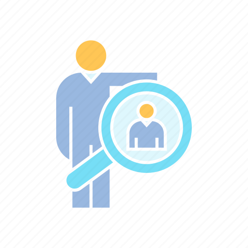 employer, human resource, recruiting, recruitment, scan icon