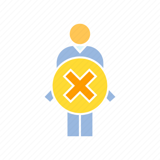 ban, person, wrong icon