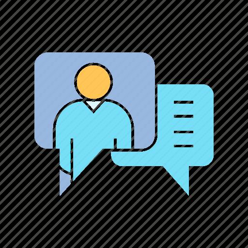 chat, contact, speech bubble icon