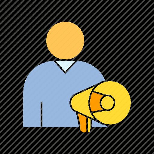 advertiser, marketer, megaphone icon