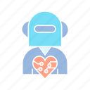artificial intelligence, cyborg, humanoid, robot icon