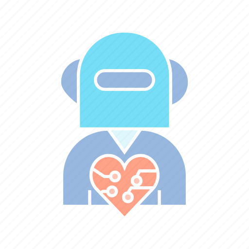 artificial intelligence, cyborg, humanoid, robot icon