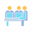 employee, meeting, office icon