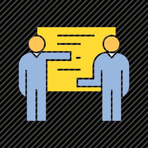 management, organization, present icon