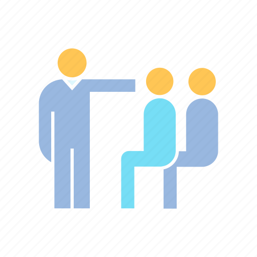 audience, office, training icon