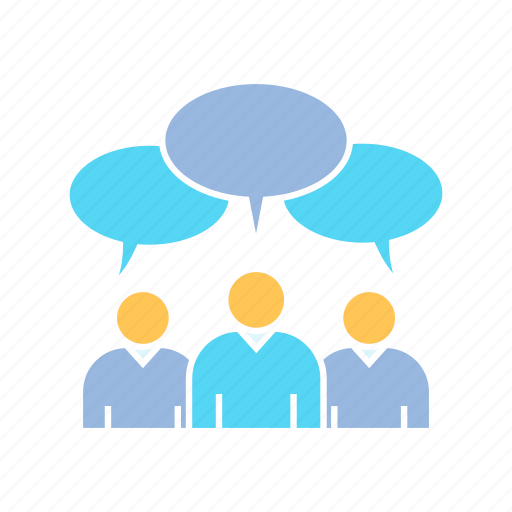 community, people, social, speech icon