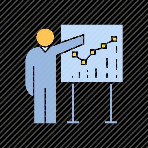 graph, prepresent, whiteboard icon